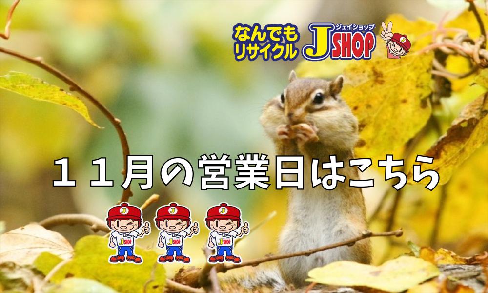 11月の営業日は!!